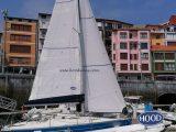 FIRST 210 Mayor y genova en la velería y puestas en el barco fabricadas por Velas Hood